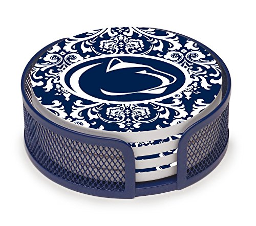 Thirstystone VPASU3-HA23 Stoneware Drink Coaster Set with Holder, Penn State University (Girls Coaster Set)