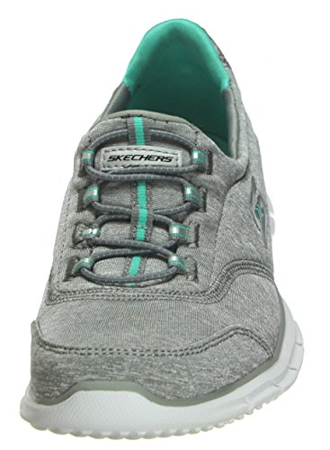 Mujer White Skechers Grey Electricity Turqouise Zapatillas Glider para nxxAqwpUzC