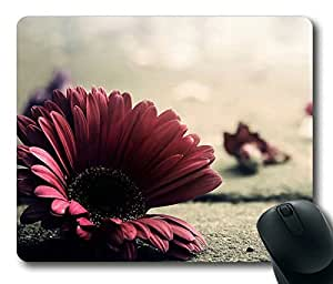Red Flower Masterpiece Limited Design Oblong Mouse Pad by Cases & Mousepads
