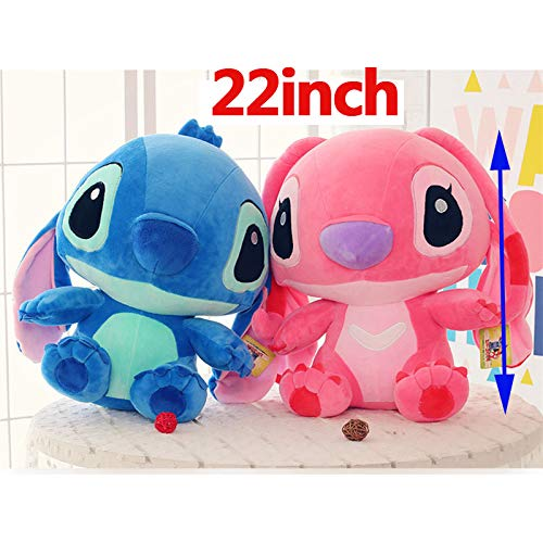 Best Quality - Stuffed & Plush Animals - inch Height Giant Large toys Lilo Stitch Stuffed stich Animal Doll Plush Baby Soft Toys Pillow for girl boy Birthday gift - by Pasona - 1 PCs by Pasona