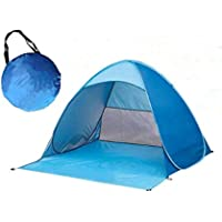 Beach Camping Tent Pop Up Tent Beach Sun Shelter Portable Sun Shade for Outdoor Picnic Outing Activities with Carry Bag