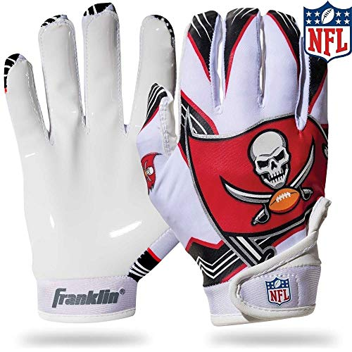 Franklin Sports NFL Tampa Bay Buccaneers Youth Football Receiver Gloves - Medium/Large -