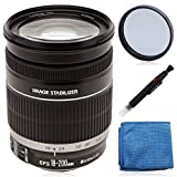 Canon EF-S 18-200mm f/3.5-5.6 IS Standard Zoom Lens (white box) for EOS 7D, 70D, Rebel T3, T3i, T5, T5i, SL1 DSLR Cameras + 72mm UV filter, lens pen cleaning system & Microfiber cloth