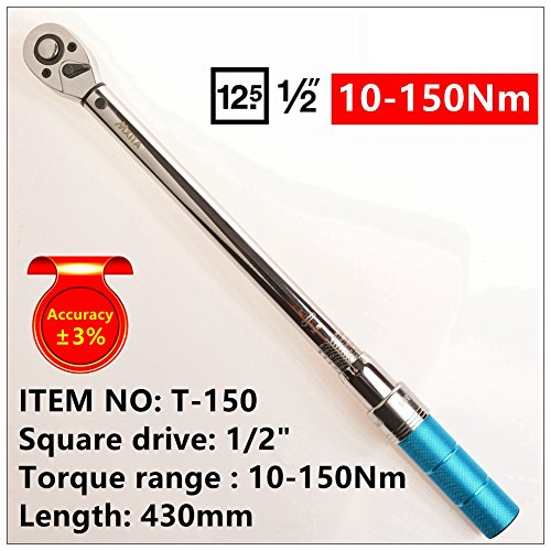 Wrench Tool Adjustable Torque Wrench Hand Spanner Car Bicycle Repair Tools 10-150Nm Pro