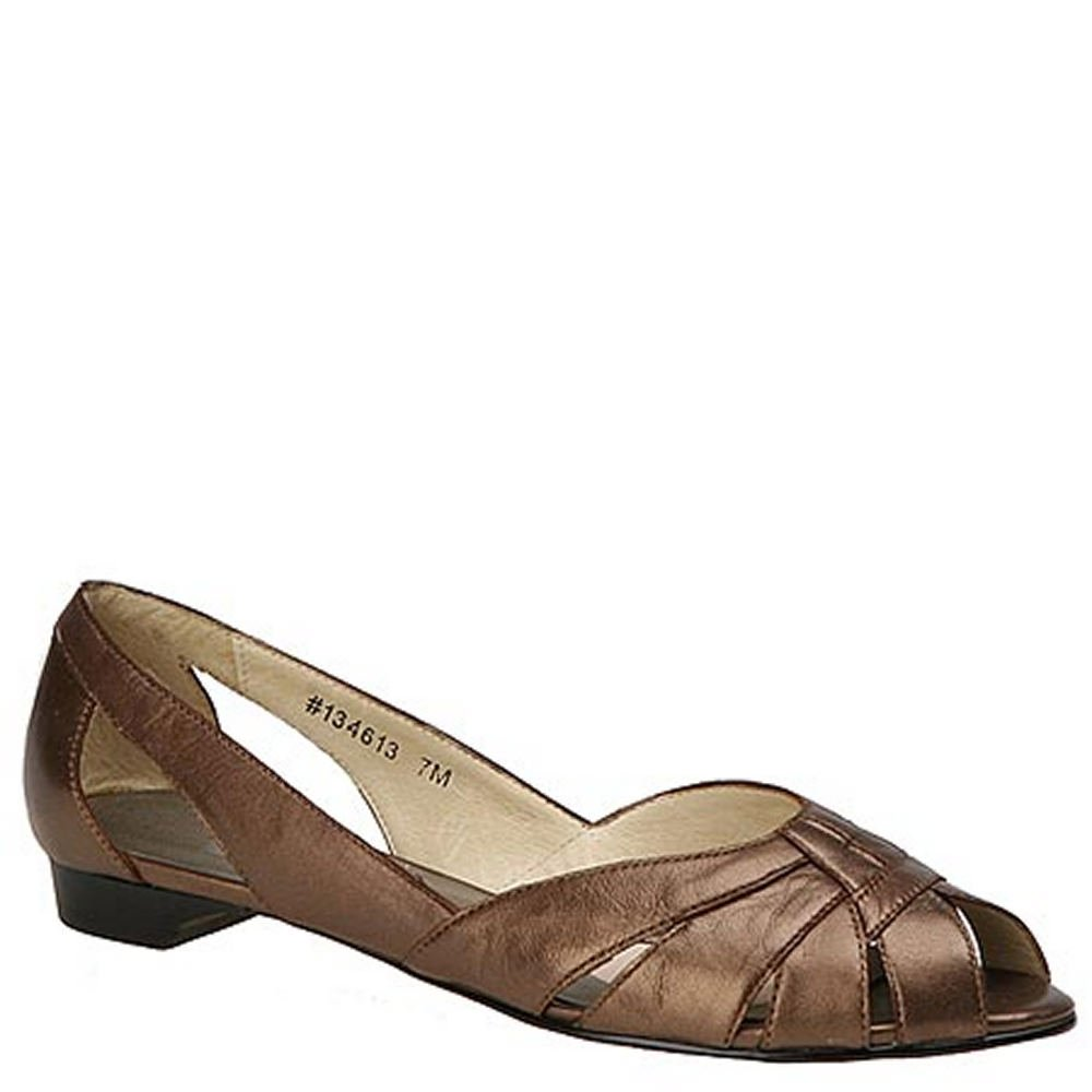 Mark Lemp Classics Womens Zuzu Peep Toe Ballet Flats B001NF48FO 9 4A US|Bronze