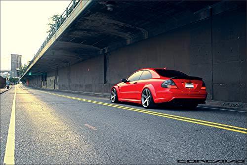 - Innerwallz Roads Mercedes-Benz vossen CLK63 AMG Black Series Red Asphalt Wall Art, Pop Art, Poster, Art Prints | Rare Posters