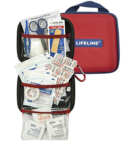 Lifeline 53 Piece First Aid Emergency Kit - Small and Compact Size - Ideal for camping, sporting events, hiking, cycling, car as well as home, school and office