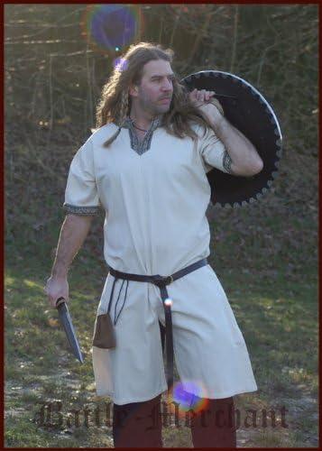 Camisas de manga corta medievales, Colour Blanco y Beige - de la Edad media, juegos de rol, de Vikingo: Amazon.es: Deportes y aire libre