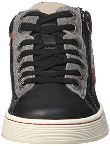 Kickers Jungen Poolover Sneaker Noir (Noir/Gris/Rouge)