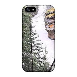 Rugged Skin Case Cover For Iphone 5/5s- Eco-friendly Packaging(rapid River Johnston Canyon Banff Alberta 10)