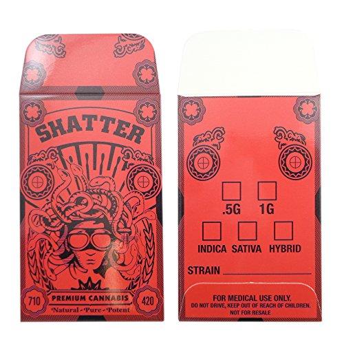 1000 Medusa Shatter Premium Concentrate Envelopes by Shatter Labels #128 by Shatter Labels
