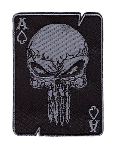 Hook Patch Punisher Black Ace of Spade Death Dead Man Punisher Morale by Titan One Europe