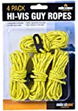 Milestone Camping Hi-Vis Guy Ropes (Packof 4) - Yellow