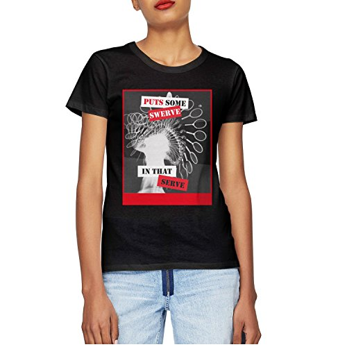 Price comparison product image T-COPER Puts Some Swerve In That Serve Tennis Women's T-Shirts Tops Short Sleeve Printed Cotton T-Shirt Hot Round Neck Tee