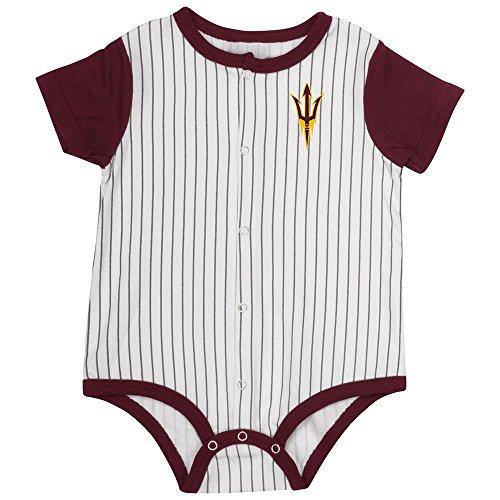 (Colosseum Infant Arizona State Sun Devils Baseball Pinstripe Bodysuit - 6 to 12 Months)