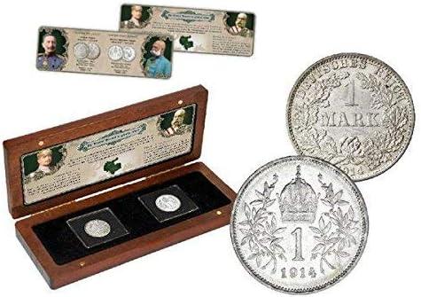 IMPACTO COLECCIONABLES Monedas Antiguas - 2 Monedas de Plata de la Primera Guerra Mundial: Amazon.es: Juguetes y juegos