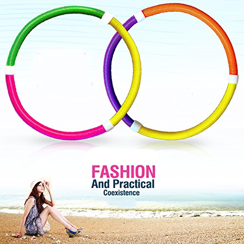 KAIL Noodle Portable Flexible Exercise Spring Hula Hoop Audlt Slimming Circle Fitness Waist Trimmers