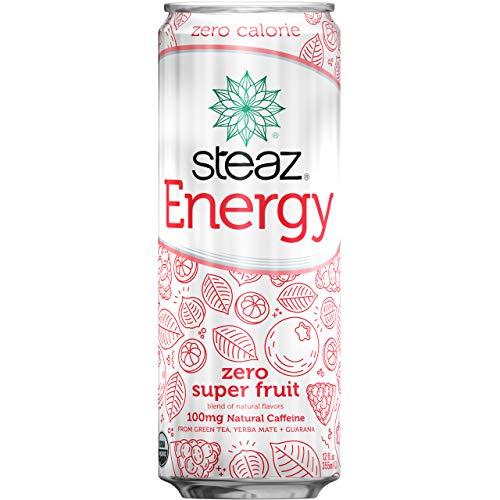 Steaz Organic Zero Calorie Energy Drink,12 OZ (Super Fruit)