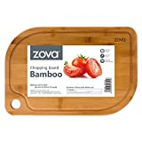 """zova Heavy Duty Non Slip Bamboo Cutting Board with Juice Groove, Size Large 16.5"""" x 11"""" x 0.75"""""""