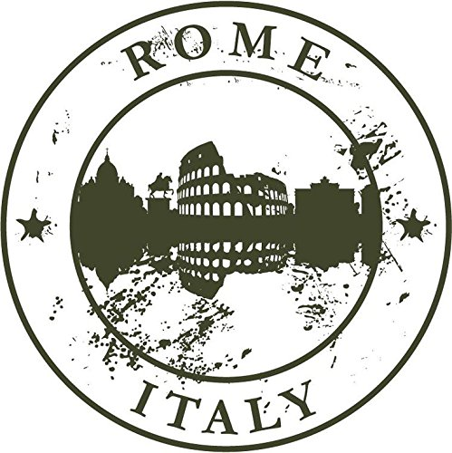 Rome Italy Europe Travel Retro Rubber Stamp Sticker Decal Design 5