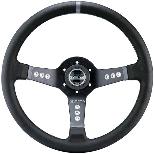 Sparco Products Leather - Sparco 015L800PL Steering Wheel (Strwhl L777 Leather Black)