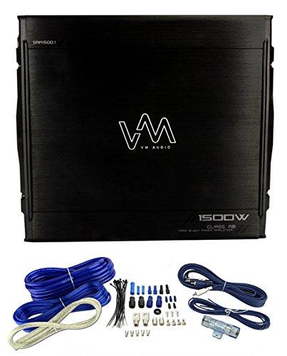 NEW VM Audio SRA1500.1 1500W Mono Amplifier Car Power Amp + Remote + Wiring Kit