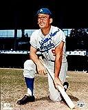 Signed Wally Moon Photo - 8X10 LA Pose w Bat on Knee COA - Autographed MLB Photos