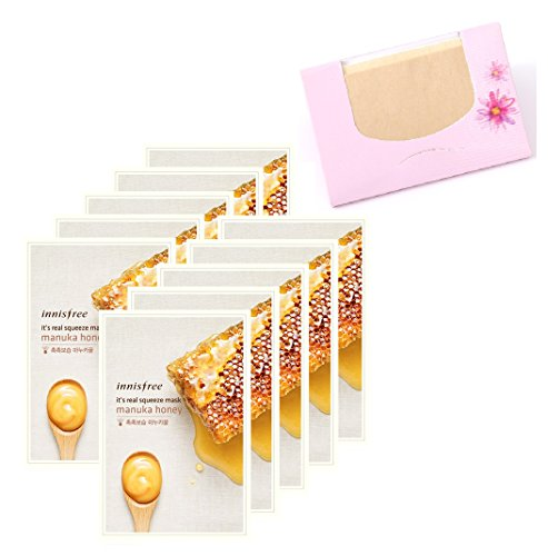 INNISFREE It's Real Squeeze Mask - Manuka honey 20ml10pcs + ...