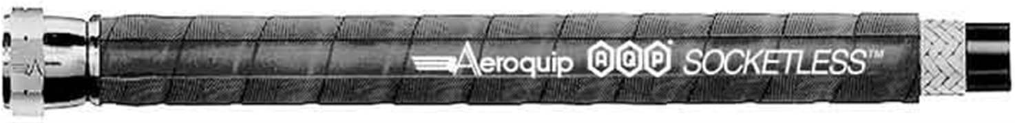 Black Rubber Each 6 AN Aeroquip Hose 10 ft AQP Socketless Hose