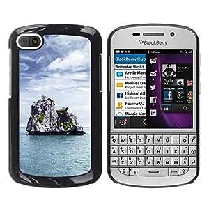 "For BlackBerry Q10 , S-type Naturaleza de Lonely Castle Rock"" - Arte & diseño plástico duro Fundas Cover Cubre Hard Case Cover"