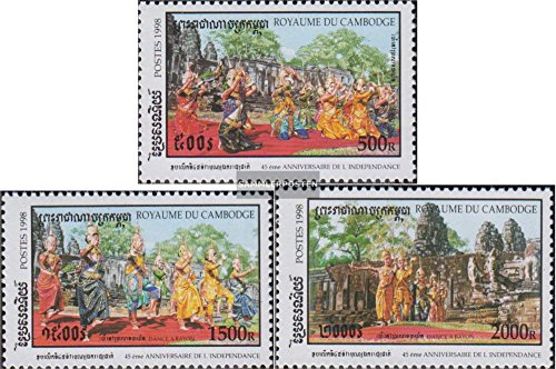 Cambodia 1875-1877 (Complete.Issue.) 1998 Dance The Apsaras (Stamps for Collectors) Music/Dance