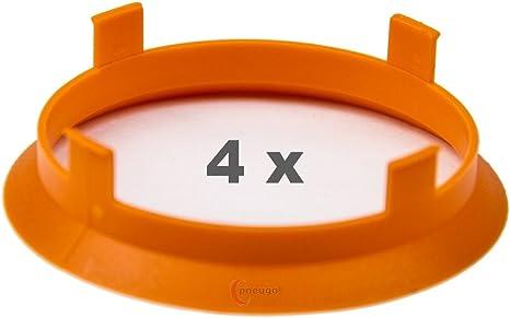 4 X Zentrierringe 60 1 Mm Auf 58 1 Mm Orange Auto
