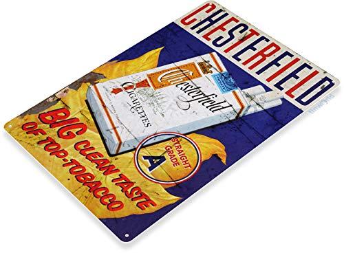 Chesterfield Cigarettes - Tinworld Tin Sign Chesterfield Cigarettes Retro Rustic Smoke Shop Store Metal Sign Decor B122