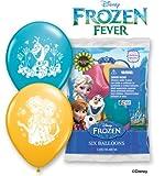 Party Supplies - Pioneer Latex Balloons 6 ct 12'' Disney Frozen Fever 23064