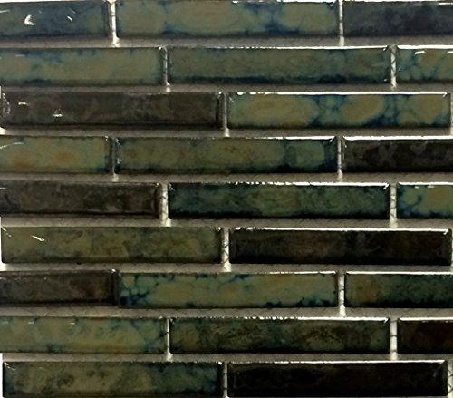 (Fujiwa Porcelain Swimming Pool Waterline Tile - LOMBO-881 RARE EARTH - 1/2