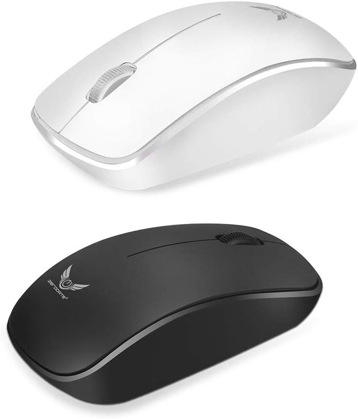 elegantstunning Laptop Business Office Mouse 1600DPI 2.4G High Sensitivity Wireless Mouse White