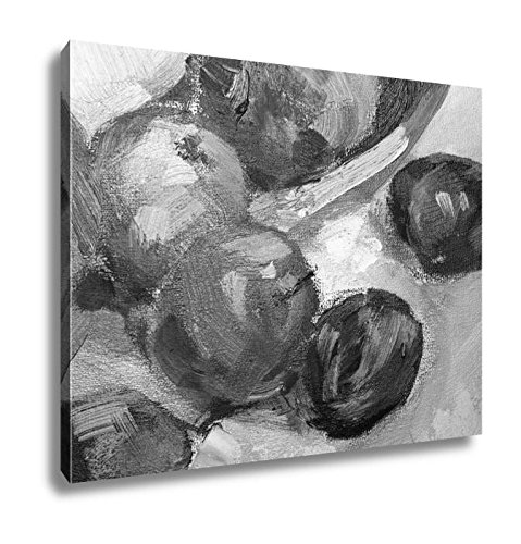 Ashley Canvas Painting Oil Painting On Canvas Abstract Oil Still Life, Home Office, Ready to Hang, Black/White 20x25, AG5804407