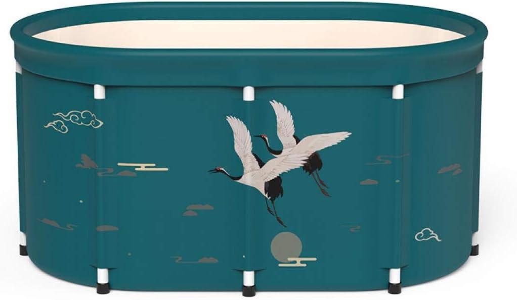 Removable Adult Foldable Bathtub Adult Foldable Tub Eco-Friendly Bathing Tub for Shower Stall Animals,Single barrel bath barrel and insulation Portable Foldable Bathtub