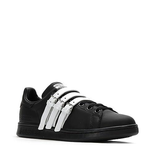 03ee0857a9b Adidas X RAF Simons Stan Smith Strap Sneakers S75801 Black White SZ UK 8.5    US 9  Amazon.ca  Shoes   Handbags