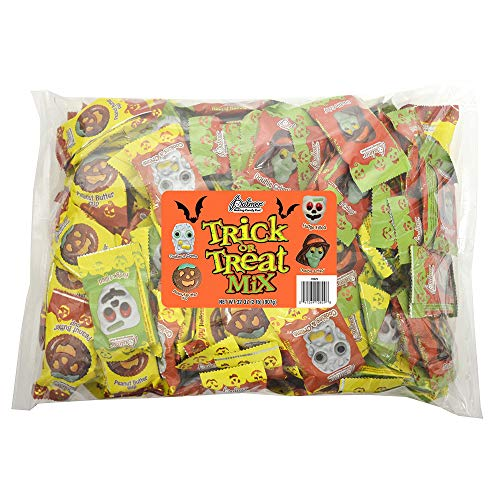 Halloween Themed Treats (R.M. Palmer Trick or Treat Mix - (Approx. 56 Pieces) Bulk Bag of Skeletons, Witches, Zombies, and Pumpkin Shaped Halloween Themed Treats, Candy, and Snacks (2)