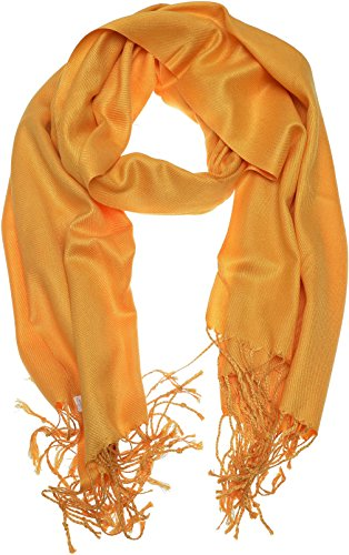 Golden Wrap (Hand By Hand Aprileo Women's Solid Pashmina Scarf Wrap Shawl Bright Shining Scarf [Golden Tainoi.](One)