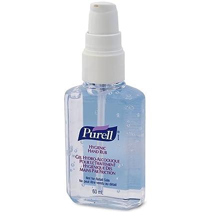 Purell Hygienic Instant Hand Sanitiser Gel Rub Pump 60ml Case