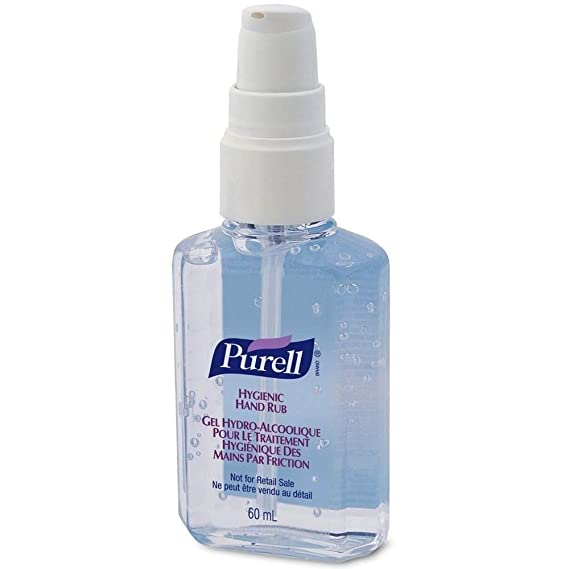 Purell Hygienic Instant Hand Sanitiser Gel Rub Pump 60ml Case