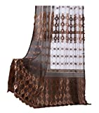 Aside Bside Rod Pocket Sheer Voile Window Curtain Luxurious Embroidery Style Rod Pocket Curtains Drapes for Living Room & Kitchen(1 Panel, W 100 x L 102 inch, Purple) -1280499C1FFEVT9100102-8509