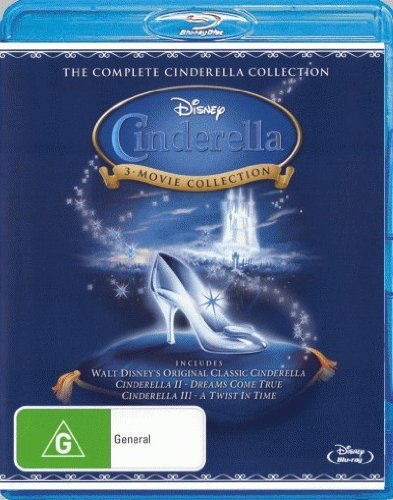 Cinderella / Cinderella 2 Dreams Come True / Cinderella 3 A Twist in Time Blu-ray