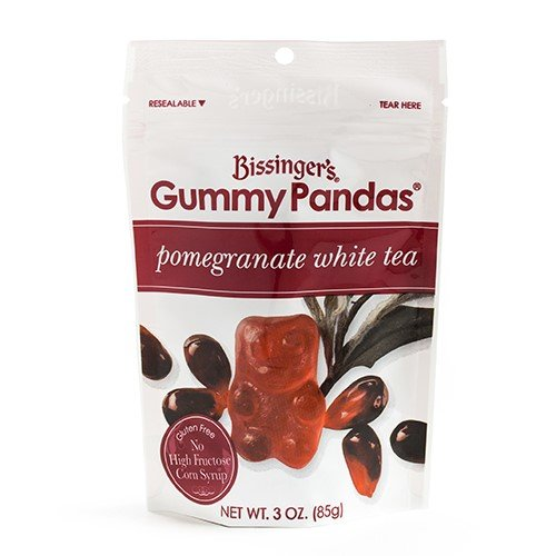 Bissingers Gourmet Gummy Pandas - Pomegranate White Tea (3.5 ounce)