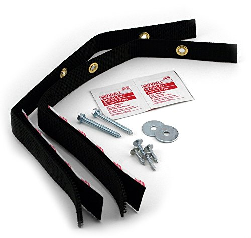 (Quakehold! 4160 Furniture Strap Kit, Black)