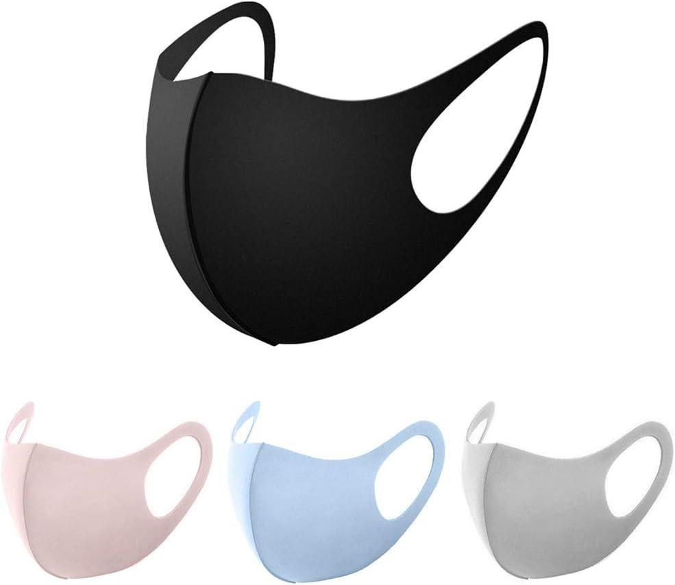 Yuanshenortey 4 Piezas Adulto Niños Esponja De Seda De Hielo Cubierta De Protección Facial Lavable Anti-niebla Neblina A Prueba De Polvo