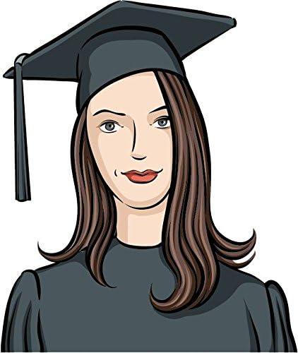 Amazon Com Zirni Cartoon Graduate Girl Education Sticker Decal Design 4 X 5 Posters Prints