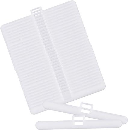 50 Pcs Accessoires pour Store Vertical Jinlaili Cintres Aveugles Verticaux Cintres pour Latte de 89mm Crochets pour Store Vertical